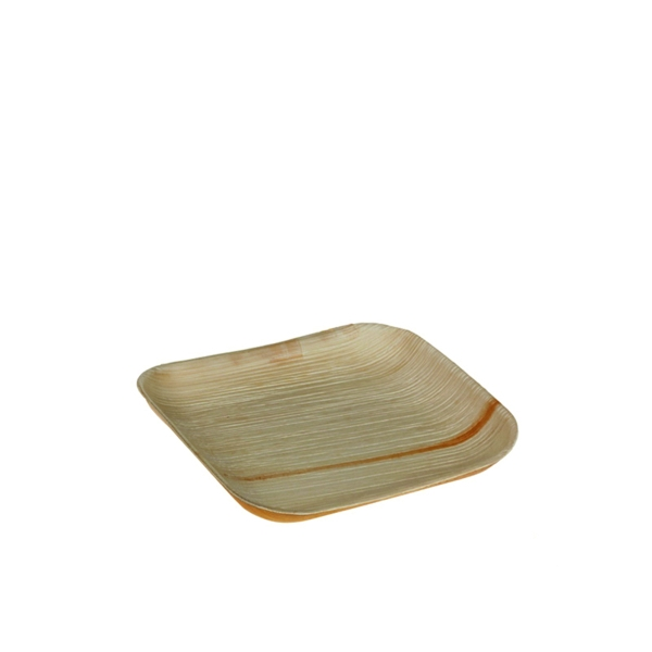 Palmblatt Teller quadratisch - 16x16x1,5cm