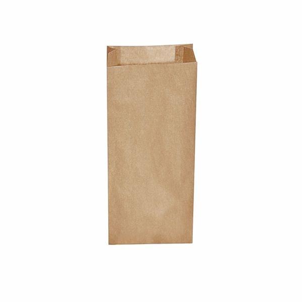 Papiertüten - Papier Faltenbeutel braun - 14+7 x 32cm - 2,0 Kg - 500 Stück