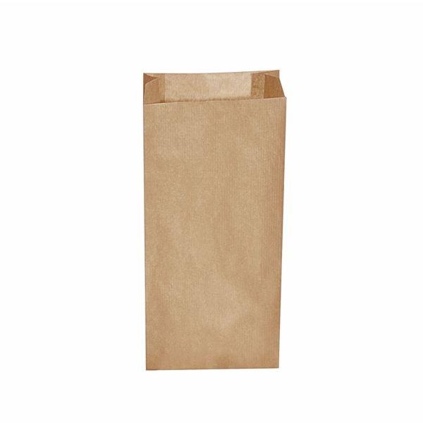 Papiertüten - Papier Faltenbeutel braun - 15+7 x 35cm - 2,5 Kg - 500 Stück