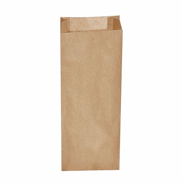 Papiertüten - Papier Faltenbeutel braun - 15+7 x 42cm - 3,0 Kg - 500 Stück