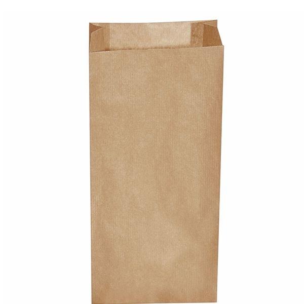 Papiertüten - Papier Faltenbeutel braun - 20 x 7 x 43cm - 5,0 Kg - 500 Stück