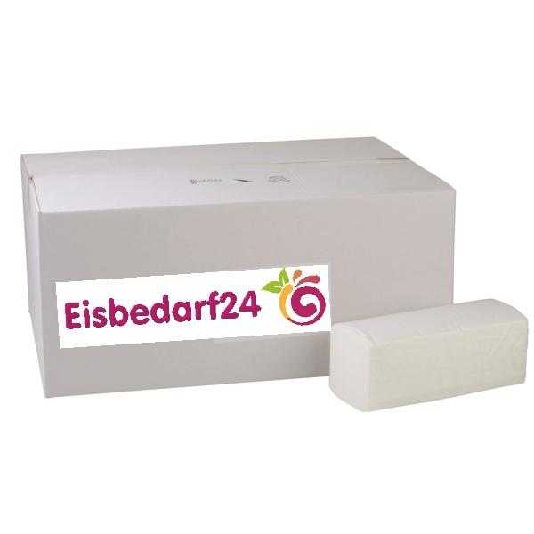 Papierhandtücher 2-lagig ZZ-Falz - 25x21cm - Weiß - 3200 Stück