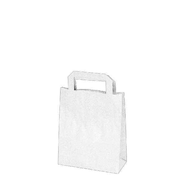 Papiertragetaschen weiß - 18x8x22cm - 50 Stück