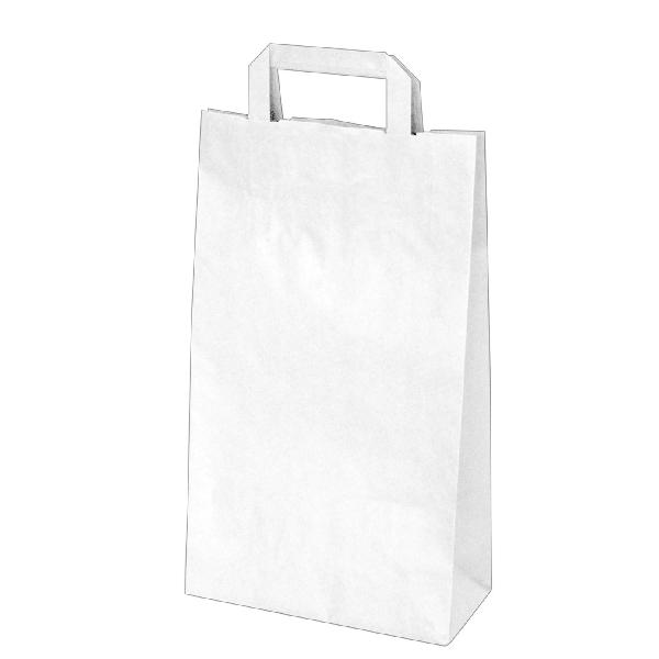 Papiertragetaschen weiß - 22x10x38cm - 50 Stück