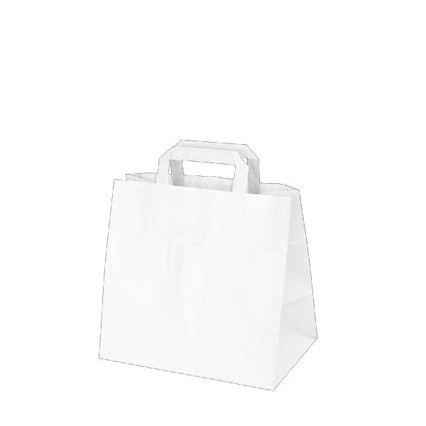 Papiertragetaschen weiß - 26x17x25cm - 50 Stück
