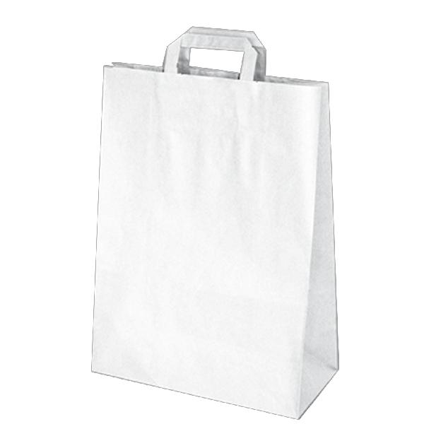 Papiertragetaschen weiß - 32x15x43cm - 50 Stück