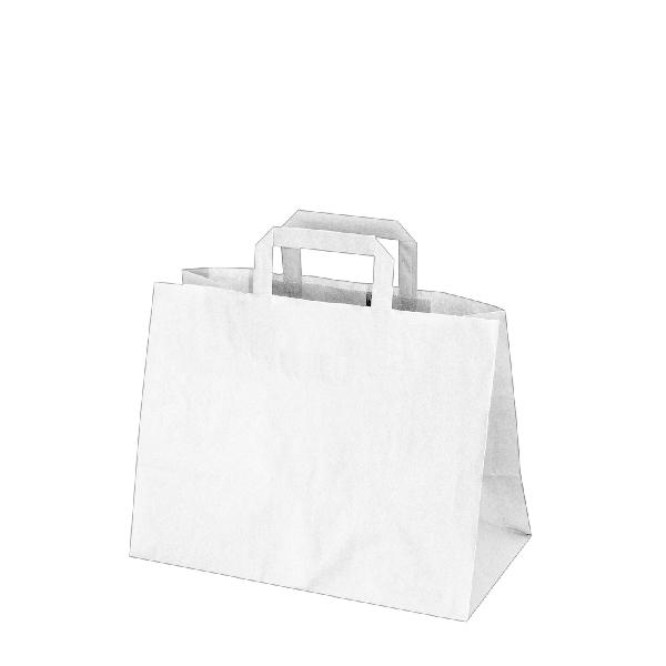 Papiertragetaschen weiß - 32x17x25cm - 50 Stück