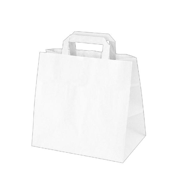 Papiertragetaschen weiß - 32x21x27cm - 50 Stück