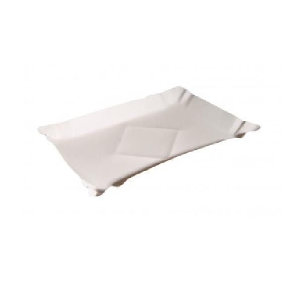Pappteller - Kuchenteller - 20 x 25cm - 500 Stück - unbeschichtet