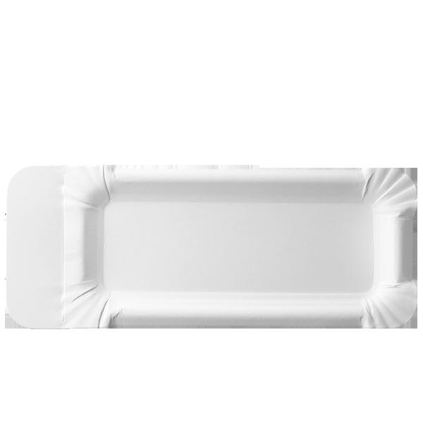 Pappteller 8 x 18cm + 3cm Abriß - 250 Stück - unbeschichtet