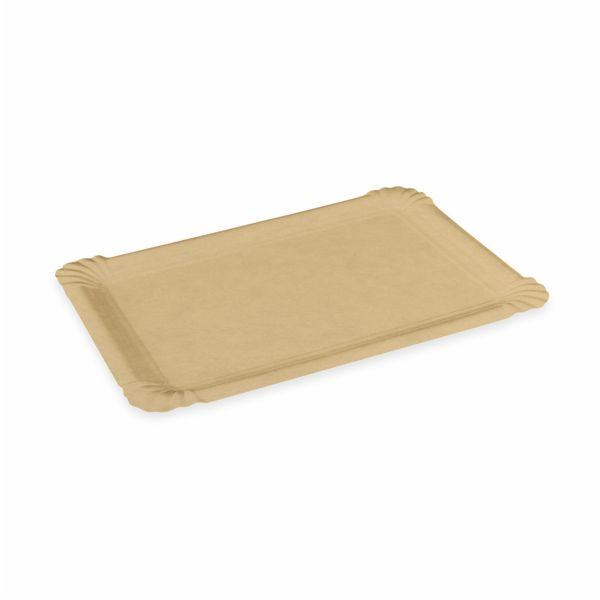 Pappteller braun mit Fettbarriere - 13x20 cm - 250 Stück