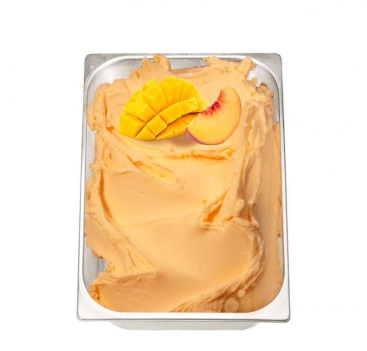 (14,66 €/Kg) Pregel Fruchtpaste Pfirsich Mango mit A.C.E. - 3 Kg
