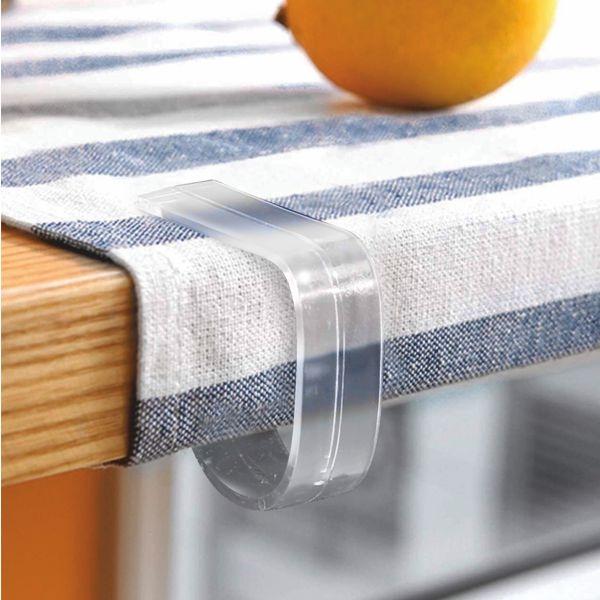 Kunststoff - Tischtuchhalter- Klemmhalter - transparent