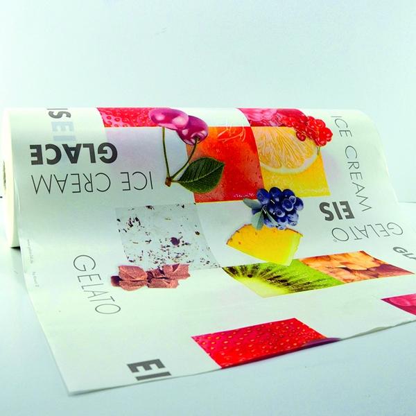 (4,25 €/Kg) Rollenpapier - Bäckerseide - Einschlagpapier Frutta 50cm - 10 Kg