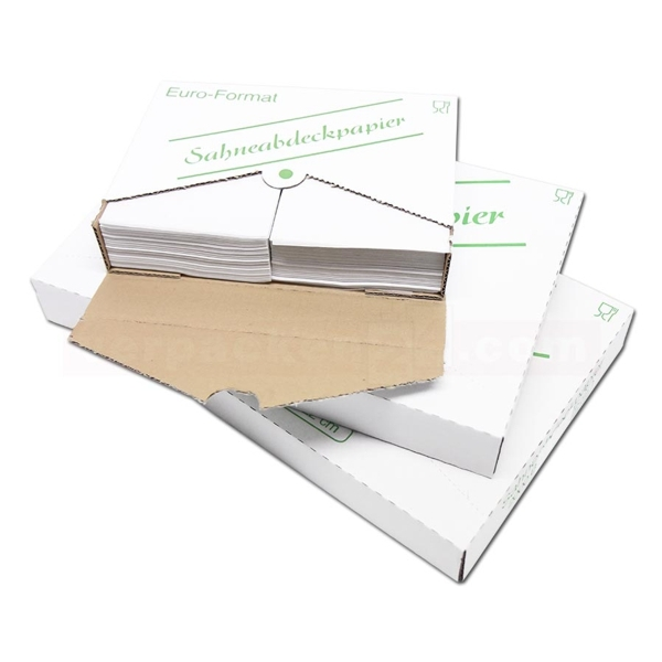 Sahneabdeckpapier 1/32 Bogen 12 x 18cm - 1000 Stück