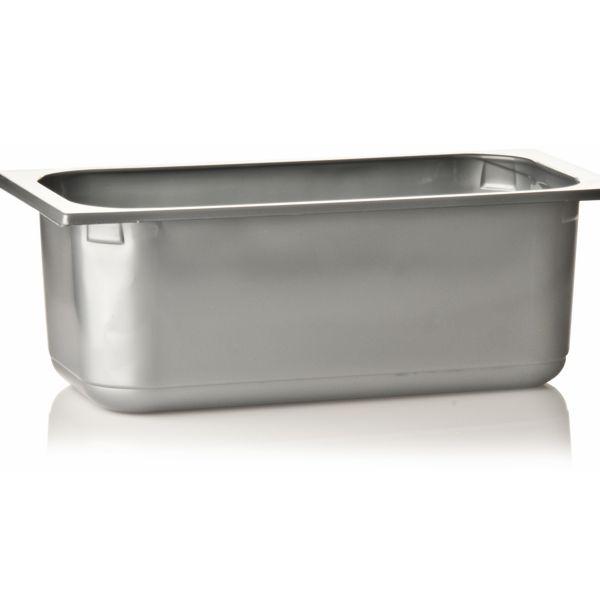 Silber Plastik - Eisschale 360x165x120mm - 5,0 Liter - 1 Stück