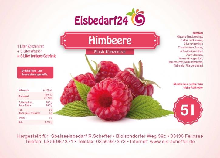 Slush Eis Sirup Himbeere - 5 Liter Konzentrat