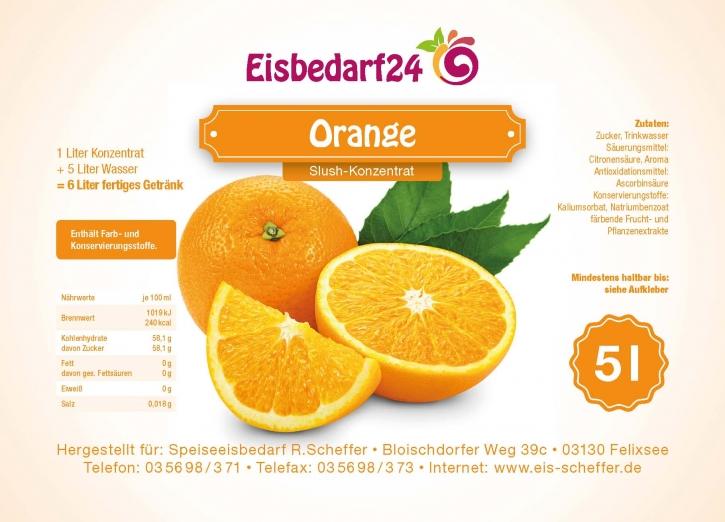 Slush Eis Sirup Orange - 5 Liter Konzentrat