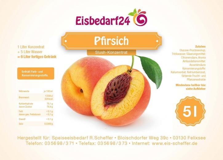 Slush Eis Sirup Pfirsich - 5 Liter Konzentrat