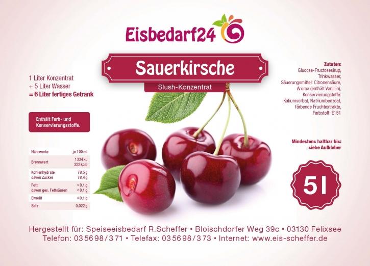 Slush Eis Sirup Sauerkirsche - 5 Liter Konzentrat