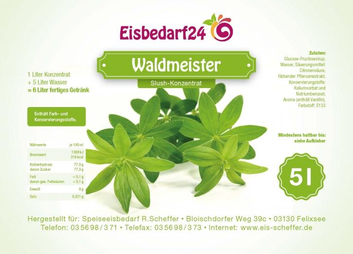 Slush Eis Sirup Waldmeister - 5 Liter Konzentrat