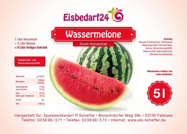 Slush Eis Sirup Wassermelone - 5 Liter Konzentrat