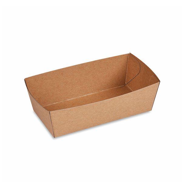 Snackschale braun mit Fettbariere 300ml - 13,5x7x4,5cm - 250 Stück