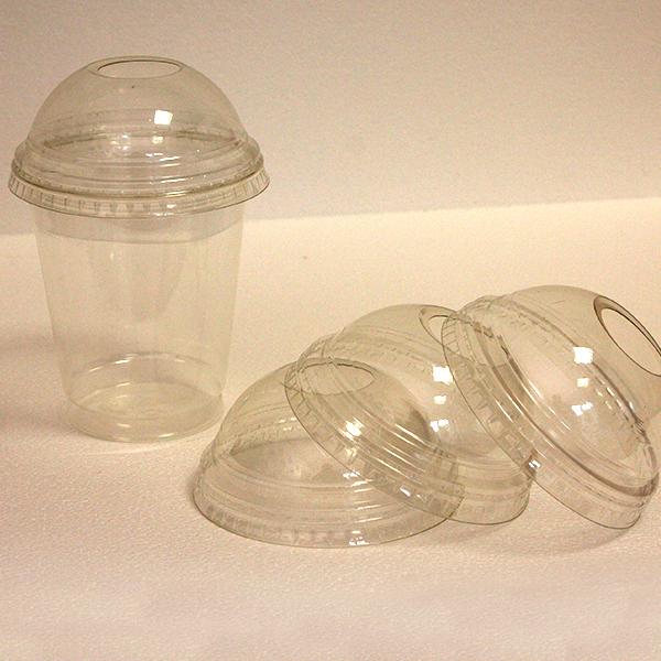 Dome Deckel Mit Loch - Clear Cup´s - Ø=95mm - 800 Stück