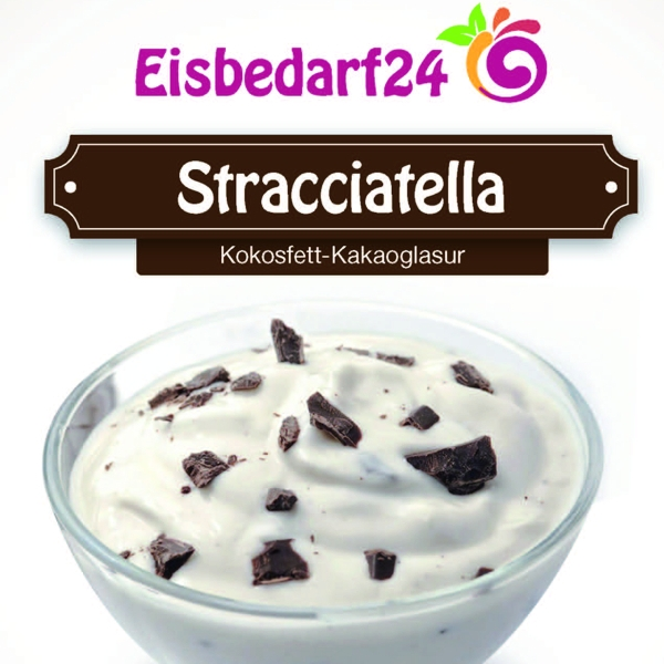 Stracciatella Fettglasur - Kokosfett - Eisüberzug - 10 Kg