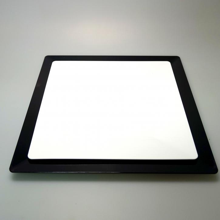 """Mehrweg Teller """"Spigolo"""" Kunststoff - weiß - 23x23cm - 25 Stück"""