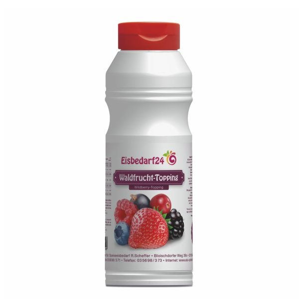 (5,95 €/Kg) Waldfrucht Sauce - Eis Topping HM - 1 Kg