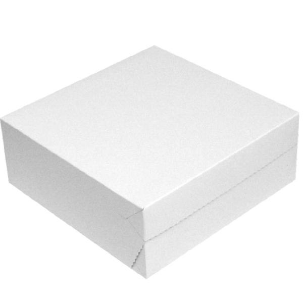 Tortenkarton 1-teilig weiß 30x30x10cm - 50 Stück