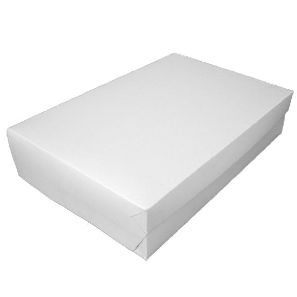 Tortenkarton für Rouladen Kuchen weiß 30x45x10cm - 50 Stück