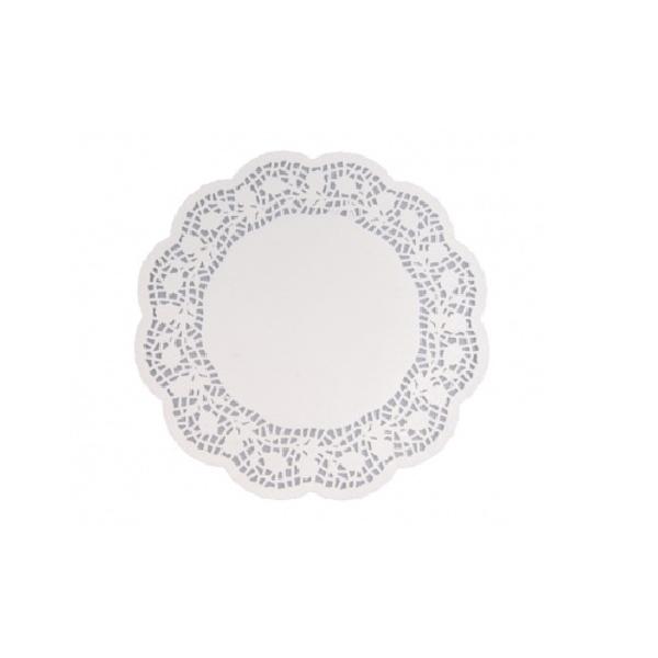 Tortenspitzen - Tortenpapier rund weiß 28cm - 100 Stück