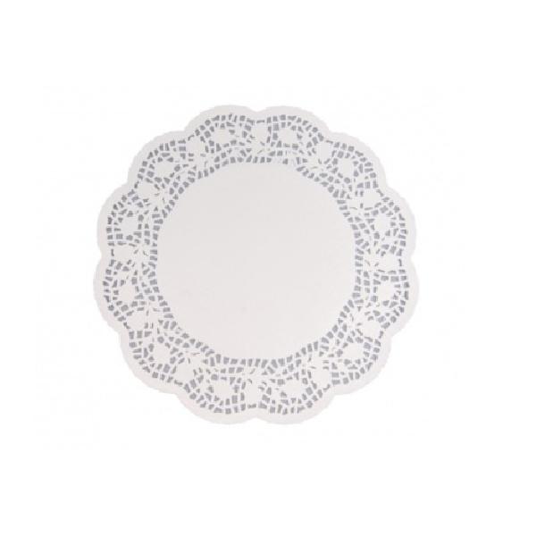Tortenspitzen - Tortenpapier rund weiß 32cm - 100 Stück