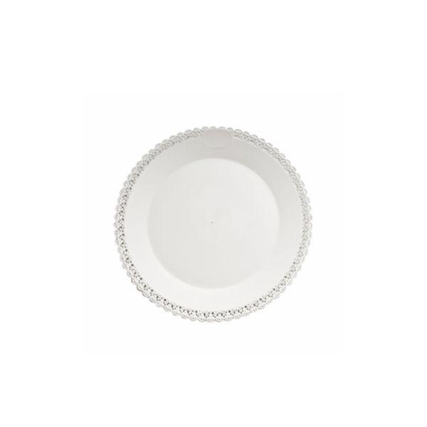 Tortenplatte - Tortentablett - Kuchenplatte Trinato - weiß - 30cm