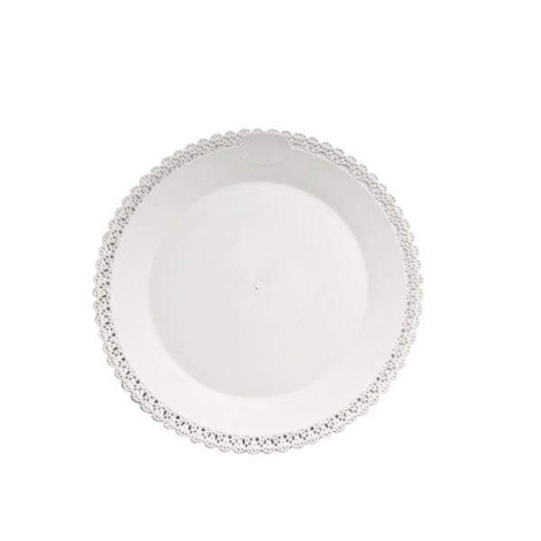 Tortenplatte - Tortentablett - Kuchenplatte Trinato - weiß - 40cm