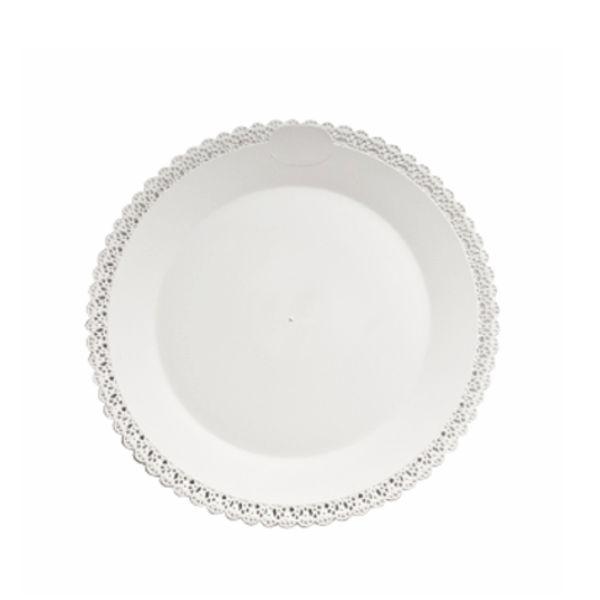 Tortenplatte - Tortentablett - Kuchenplatte Trinato - weiß - 42cm