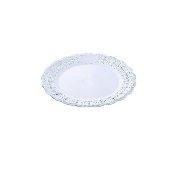 Tortenplatte - Tortentablett - Kuchenplatte Decorato - weiß - 22cm