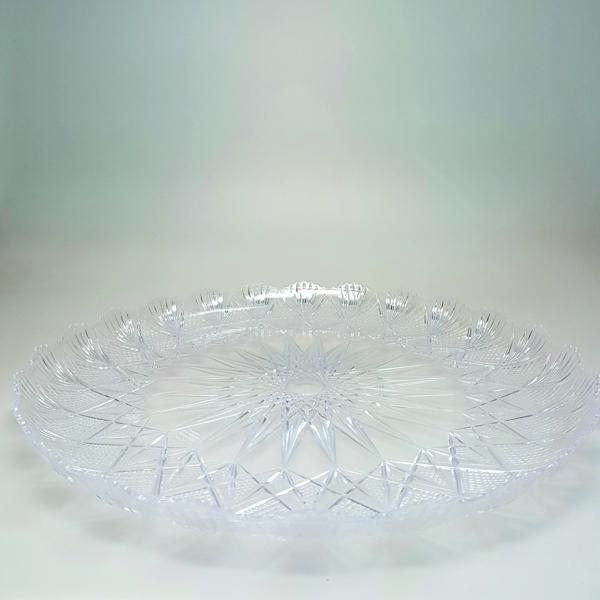 """Tortenplatte - Tortentablett - Kuchenplatte """"Stella"""" - Kristall - 36cm"""