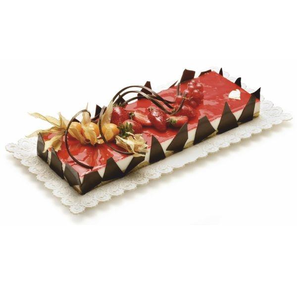 Tortenplatte - Tortentablett - Kuchenplatte Rettang - eckig - 17 x 25 cm