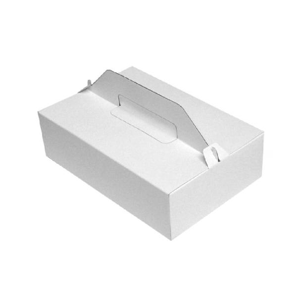 Tragebox für Tortenstücke weiß 27x18x8cm - 50 Stück