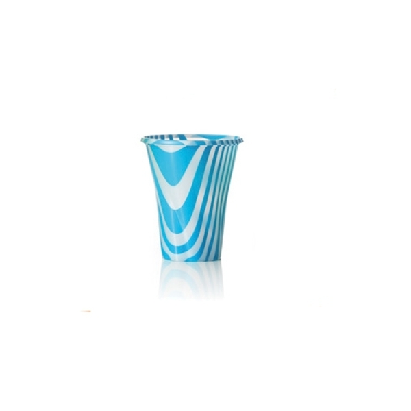 Trinkbecher 250cc blau gestreift - 200ml - 50 Stück