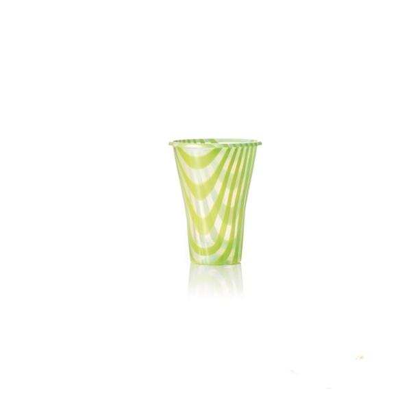 Trinkbecher 300cc grün gestreift - 250ml - 50 Stück