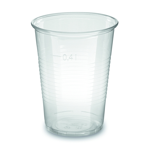 Trinkbecher PP 400ml klar Ø=95mm - 50 Stück