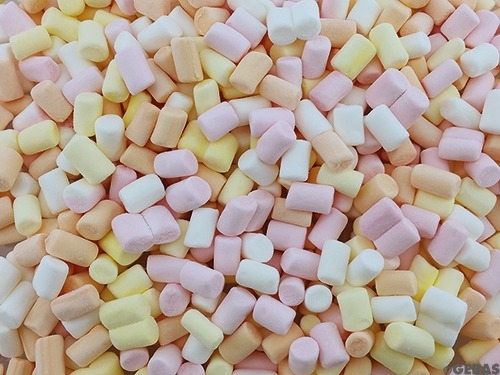 Mini Marshmellows 4-farbig - 11mm - bunt- 1 Kg