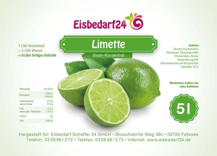 Slush Eis Sirup Limette - 5 Liter Konzentrat