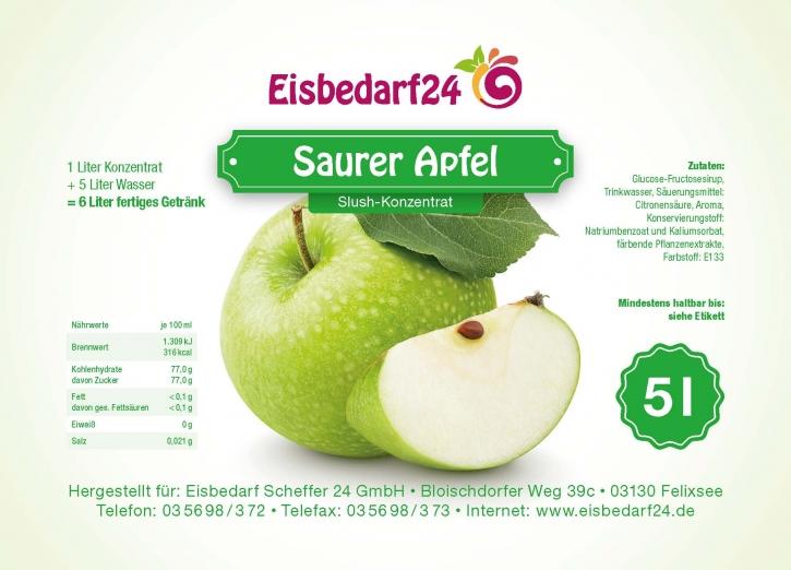Slush Eis Sirup Saurer Apfel - 5 Liter Konzentrat