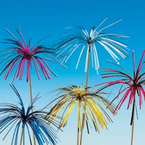 100 Deko-Aufstecker - Feuerwerk Palmenwedel