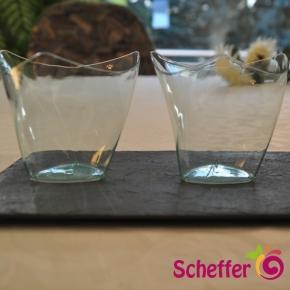 Fingerfood Schalen Dorico klar/bläulich - 120 ml - 50 Stück